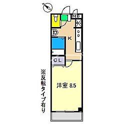 ガルボ高須[4階]の間取り