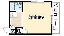 アールズコート喜多山[4D号室]の間取り