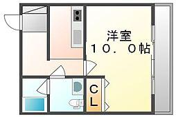 香川県高松市扇町2丁目の賃貸マンションの間取り
