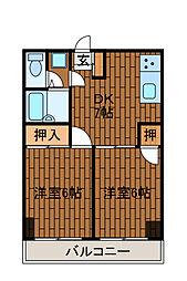 エトワール柿生[3階]の間取り