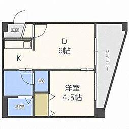 北海道札幌市中央区南五条西1の賃貸マンションの間取り