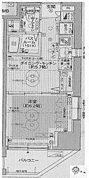 エステムプラザ飯田橋タワーレジデンス[605号室号室]の間取り