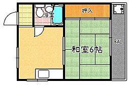ハイツ横山[303号室]の間取り