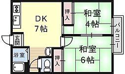 鳴海マンション[11号室号室]の間取り