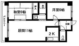 北海道札幌市清田区真栄四条2丁目の賃貸マンションの間取り