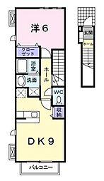 クレメントハウス湘南[203号室]の間取り