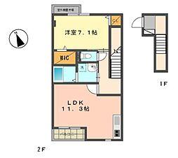 TownHouse安樹[2階]の間取り