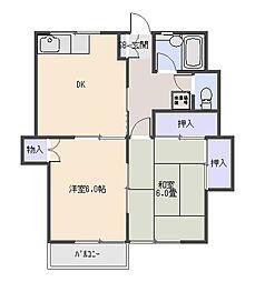 エヌエスハイム[2階]の間取り
