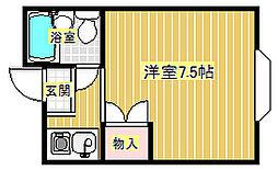 グリーンハイム箕面[3階]の間取り
