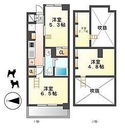 エステムコート名古屋駅前CORE[6階]の間取り