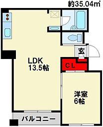 パークハイツ黒崎III[2階]の間取り