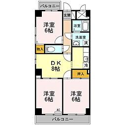 東京都江戸川区西葛西6丁目の賃貸マンションの間取り