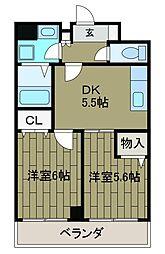 ザ・プレイス2[2階]の間取り