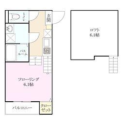 2018年3月完成 新築アパート TYPE-C[2階]の間取り