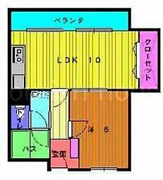 福島スカイハイツ[7階]の間取り