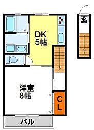 セレナーデケンII[2階]の間取り