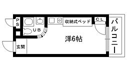 ピュアハウス甲子園[702号室]の間取り