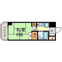 露橋ロイヤルハイツⅠ[4階]の間取り