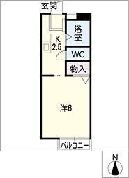 midi OHARA[1階]の間取り