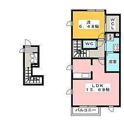 シャーメゾンスール[2階]の間取り