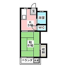 コーポ前田[1階]の間取り