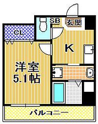 梅香新築マンション[6階]の間取り