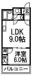 ロータスハイツ澄川[402号室]の間取り