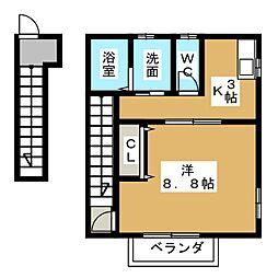 アンフィニII[2階]の間取り