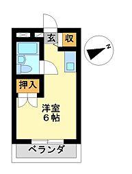 愛知県名古屋市中区新栄2丁目の賃貸マンションの間取り