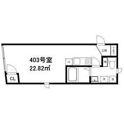 東京都北区上十条4丁目の賃貸マンションの間取り