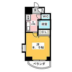 CHERRY HILLS I[6階]の間取り