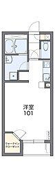 南海高野線 北野田駅 3.8kmの賃貸アパート 2階1Kの間取り