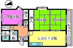 レジデンス飯田2[105号室]の間取り