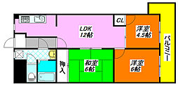 グランドファミリア・高井田 401号室[4階]の間取り