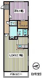 埼玉県戸田市笹目5丁目の賃貸マンションの間取り