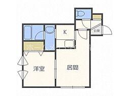 北海道札幌市白石区本通7丁目北の賃貸アパートの間取り