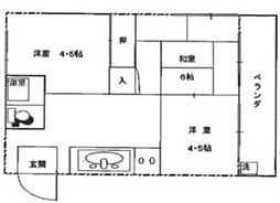 第5菊屋ビル[4A号室]の間取り