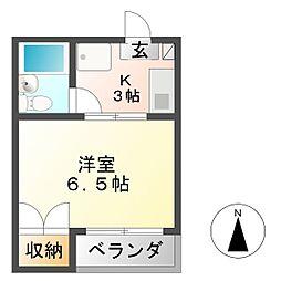 安田学研会館 西棟[2階]の間取り