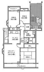 UR千葉ニュータウン プロムナード桜台3番街[3-306号室]の間取り