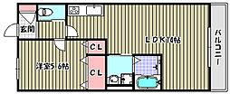ロイヤルコート南陵町[1階]の間取り