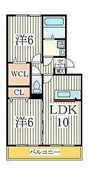 フェリーチェ ヴィータA[3階]の間取り