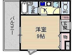 ハイツグルービー[3階]の間取り