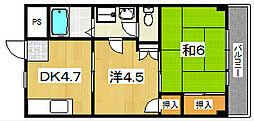 プレアール八幡[2階]の間取り