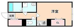 サニーハウス豊中[2階]の間取り