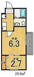 nico西院[301号室]の間取り