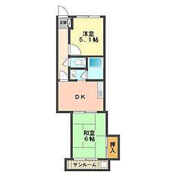 東京都葛飾区細田3丁目の賃貸マンションの間取り