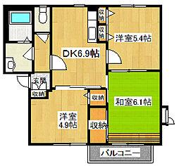 モ・マノワール[203号室号室]の間取り
