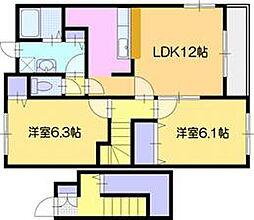 北海道岩見沢市北本町東3丁目の賃貸アパートの間取り
