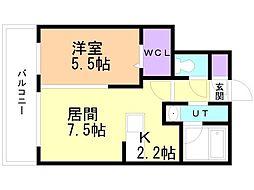 癒禅(ユウゼン)32 4階1LDKの間取り