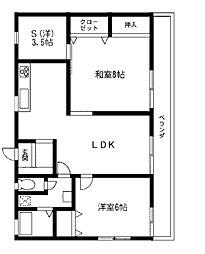 飯島ハイツ[2階]の間取り